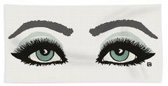 Beach Towel featuring the painting Starry Eyed by Lisa Weedn