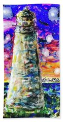 Beach Towel featuring the painting Starry Light by Monique Faella