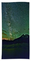 Starry Night Over The Tetons Beach Towel