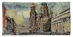 starry Saint Petersburg Beach Towel