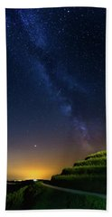 Beach Towel featuring the photograph Starry Sky Above Me by Davor Zerjav