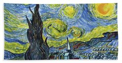 Starry, Starry Night Beach Towel