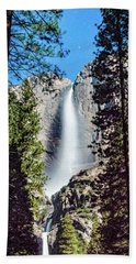 Starry Yosemite Falls Beach Towel