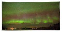 Stars And Northern Lights Beach Towel