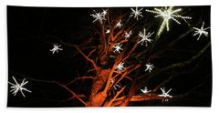 Stars In The Tree Beach Towel