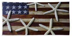 Stars On American Flag Beach Towel