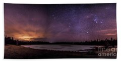 Stars Over Lake Eaton Beach Towel