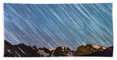 Stars Raining Down On The Colorado Indian Peaks Beach Towel