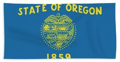 State Flag Of Oregon Beach Sheet by American School