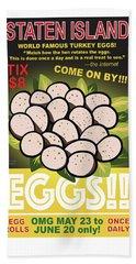 Staten Islands Eggs Beach Sheet