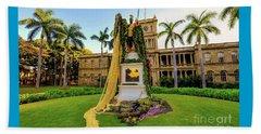 Statue Of, King Kamehameha The Great Beach Sheet