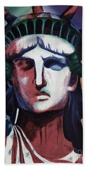Statue Of Liberty Hb5t Beach Towel by Gull G