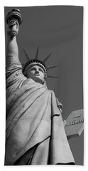 Statue Of Liberty Beach Sheet by Ivete Basso Photography