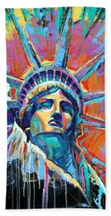 Statue Of Liberty New York Art Usa Beach Towel
