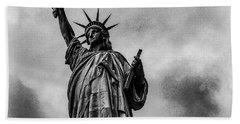 Statue Of Liberty Photograph Beach Towel
