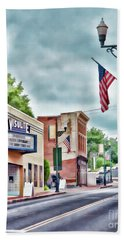 Beach Towel featuring the photograph Staunton Virginia - Art Of The Small Town by Kerri Farley
