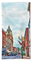 Beach Towel featuring the photograph Staunton Virginia - The Queen City - Art Of The Small Town by Kerri Farley