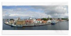 Stavanger Harbour Panorama  Beach Sheet