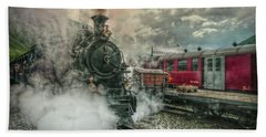 Beach Sheet featuring the photograph Steam Engine by Hanny Heim