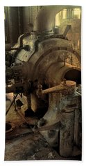 Steam Engine No 4 Beach Towel