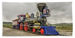 Beach Towel featuring the photograph Steam Locomotive Jupiter by Sue Smith