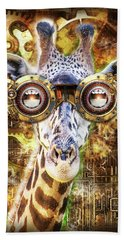 Steam Punk Giraffe Beach Towel