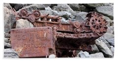 Steam Shovel Number One Beach Sheet by Kandy Hurley