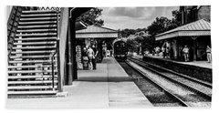 Steam Train In The Station Beach Towel