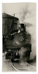 Beach Towel featuring the photograph Steam Train by Jerry Fornarotto