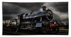 Steam Train Beach Towel by Ken Brannen