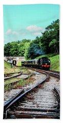 Steam Train Nr The Bridge Beach Towel