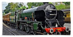 Steam Train On North York Moors Railway Beach Towel