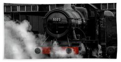 Steam Train Selective Colour Beach Towel by Ken Brannen