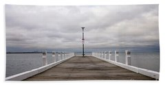 Beach Towel featuring the photograph Steampacket Quay by Linda Lees