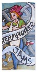 Steampunked Jams Beach Towel