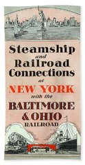 Steamship And Railroad Connections At New York Beach Sheet