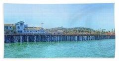 Stearns Wharf Beach Towel