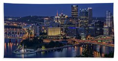 Steel City Glow Beach Towel