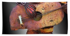 Steel Guitar - Or - Too Many Fingers And Not Enough Strings Beach Towel