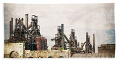 Steel Stacks  Beach Towel