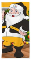 Steelers Santa Claus Beach Towel