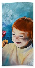 Stefi- My Trip To Holland - Red Headed Angel Beach Sheet