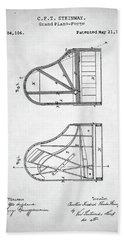 Steinway Grand Piano Patent Beach Sheet by Taylan Apukovska