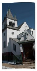 Steinwy Reformed Church Steinway Reformed Church Astoria, N.y. Beach Towel