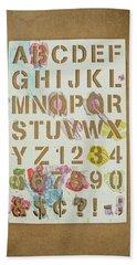 Stencil Alphabet Fun Beach Towel