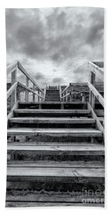 Beach Towel featuring the photograph Step On Up by Linda Lees