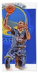 Stephen Curry Golden State Warriors Oil Art 2 Beach Towel