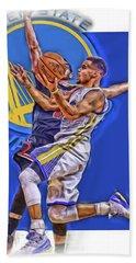 Stephen Curry Golden State Warriors Oil Art Beach Towel
