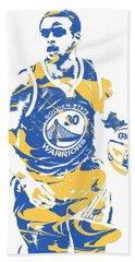 Stephen Curry Golden State Warriors Pixel Art 21 Beach Towel