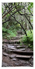 Steps Into The Enchanted Forest Beach Towel